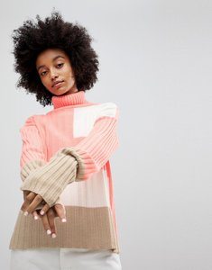 Read more about Asos jumper in rib and blocked pattern - multi