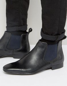 Read more about Silver street carnay chelsea boots in black leather - black