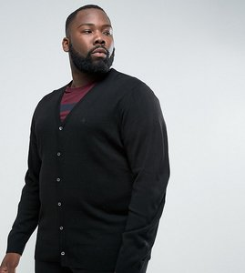 Read more about French connection plus man cardigan - black