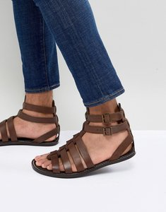Read more about Asos design gladiator sandals in leather - brown