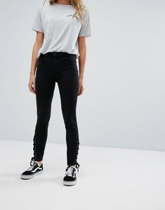 Read more about New look lace up side high waist jegging - black