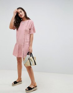 Read more about Asos design button through pephem mini dress with buttons