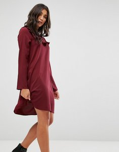 Read more about Brave soul frill swing dress - wine