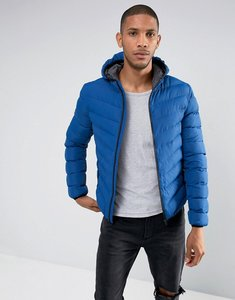 Read more about Brave soul nylon hooded padded hooded jacket - blue