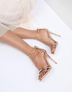 Read more about Office harness heeled sandals - rose gold