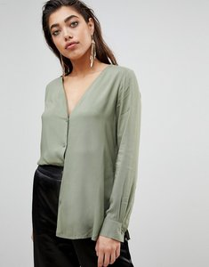 Read more about Ivyrevel blouse with button front - khaki