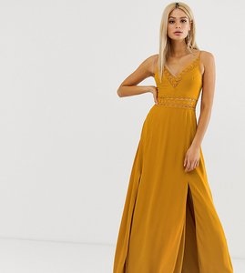 Read more about Asos design tall maxi dress with guipure lace waist trim