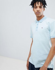 Read more about Tommy jeans summer oxford polo flag logo in light blue - blue