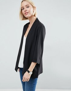 Read more about Asos soft chuck on blazer - black