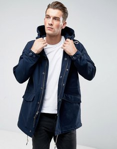 Read more about Abercrombie fitch hooded parka cotton nylon in navy - navy