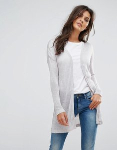 Read more about Vero moda long cardigan - light grey melange