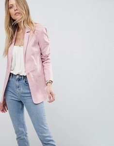 Read more about Asos tailored single breasted linen blazer - nude