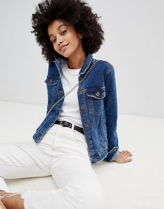 Read more about Bershka minimal denim jacket - mid blue