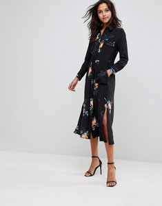 Read more about French connection delphine drape dress - black