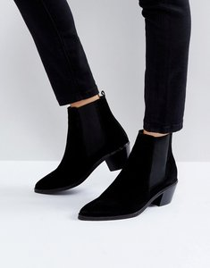Read more about H by hudson suede ankle boots - black suede
