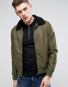 Read more about Barneys faux leather jacket - khaki