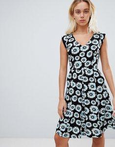 Read more about Louche floral print skater dress - black blue