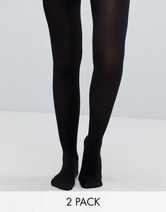 Read more about Monki 2 pack 60 denier tights - black