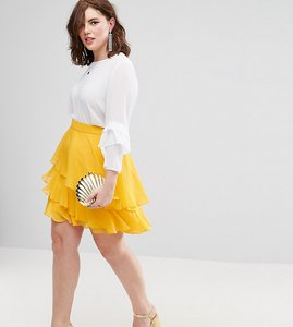 Read more about Asos curve mini rara skirt - yellow