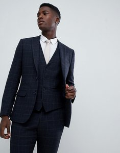 Read more about French connection tweed square slim fit heritage suit jacket - dark blue
