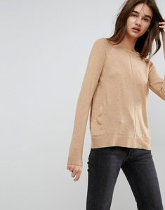 Read more about Asos boyfriend jumper with crew neck - camel marl