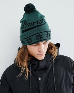 Read more about Burton snowboards gramercy beanie logo bobble in green - jasper