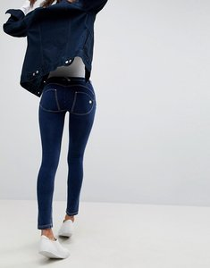 Read more about Freddy wr up shaping effect mid rise push up skinny jean with rips - mid blue