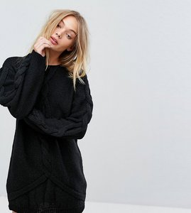 Read more about Oneon hand knitted oversized cable dress - black