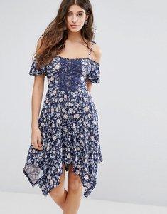 Read more about Miss selfridge hanky hem floral dress - multi