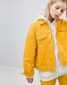 Read more about Weekday denim trucker jacket - yellow