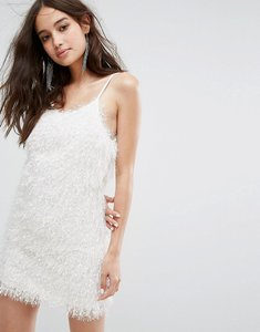 Read more about Glamorous cami dress in fluffy fabric - white