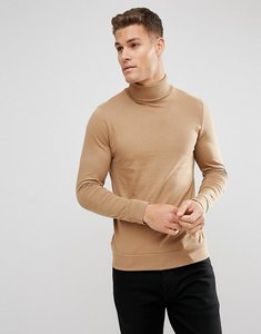 Read more about French connection roll neck top - tan