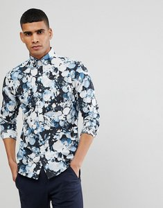 Read more about Selected homme slim fit smart shirt with all over print - black aop