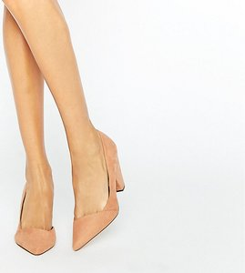 Read more about Asos sapphire wide fit pointed heels - nude