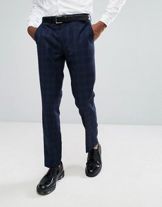 Read more about Rudie blue prince of wales check skinny fit suit trousers - blue
