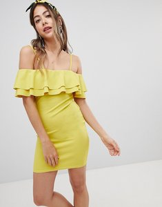 Read more about Missguided strappy bardot dress - yellow