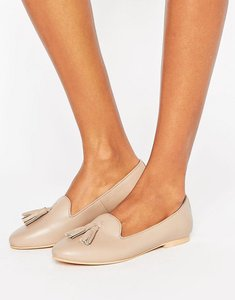 Read more about Park lane tassle leather loafer - nude leather