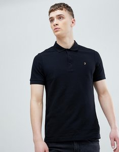 Read more about Farah blaney pique polo slim fit in black - black