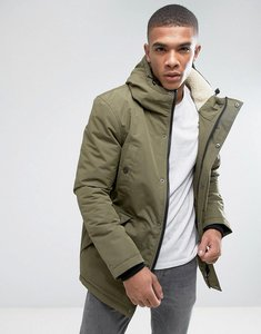 Read more about D-struct sherpa lined parka jacket - green