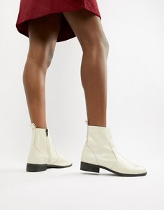 Read more about Office ashleigh white leather calf boots - white leather