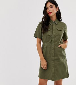 Read more about Urban bliss utility mini dress with neck tie detail