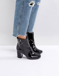 Read more about Pimkie patent heeled boots - black