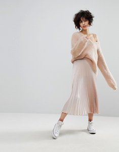 Read more about Leon and harper pleated midi skirt - pink