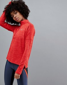 Read more about Nike running therma sphere half zip jacket in red - gym red htr gym red