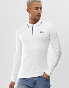 Read more about Tommy jeans stretch long sleeve polo shirt