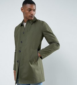 Read more about Asos tall shower resistant single breasted trench coat in khaki - khaki