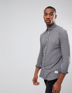 Read more about Jack jones core shirt in slim fit jersey cotton - grey melange