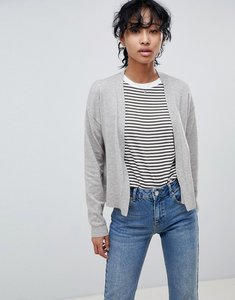 Read more about Asos design cardigan in fine knit - taupe