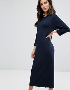 Read more about Selected knit midi dress - dark sapphire