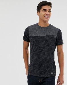 Read more about Brave soul space dye pocket t-shirt - ecru mid grey